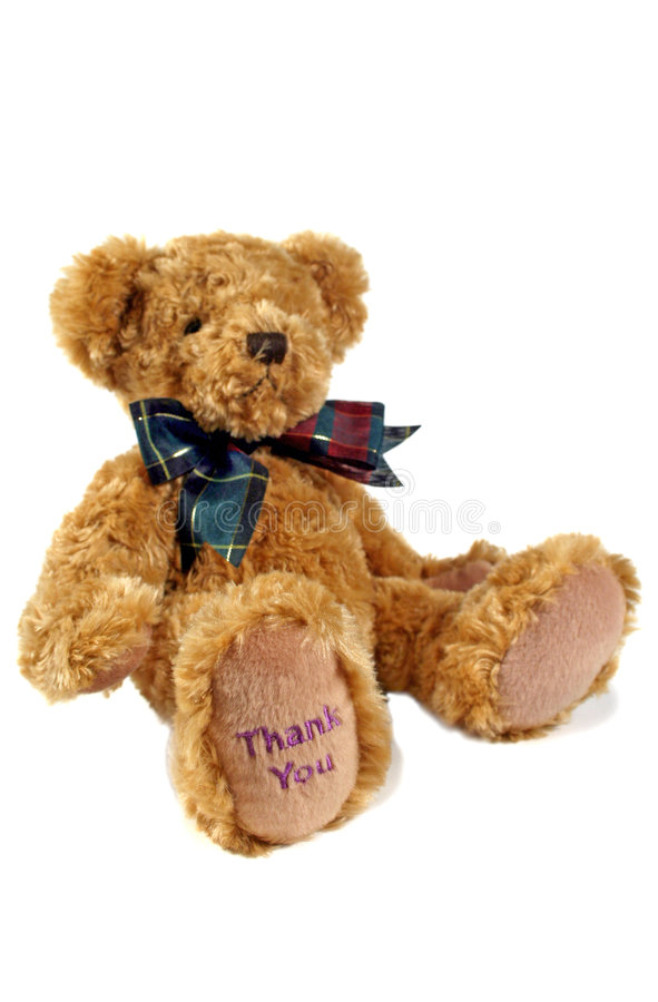 Thank You Teddy 1. Thank you teddy bear with thank you on his paw stock images