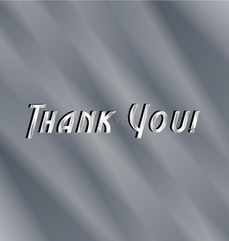 Thank you text background stock illustration