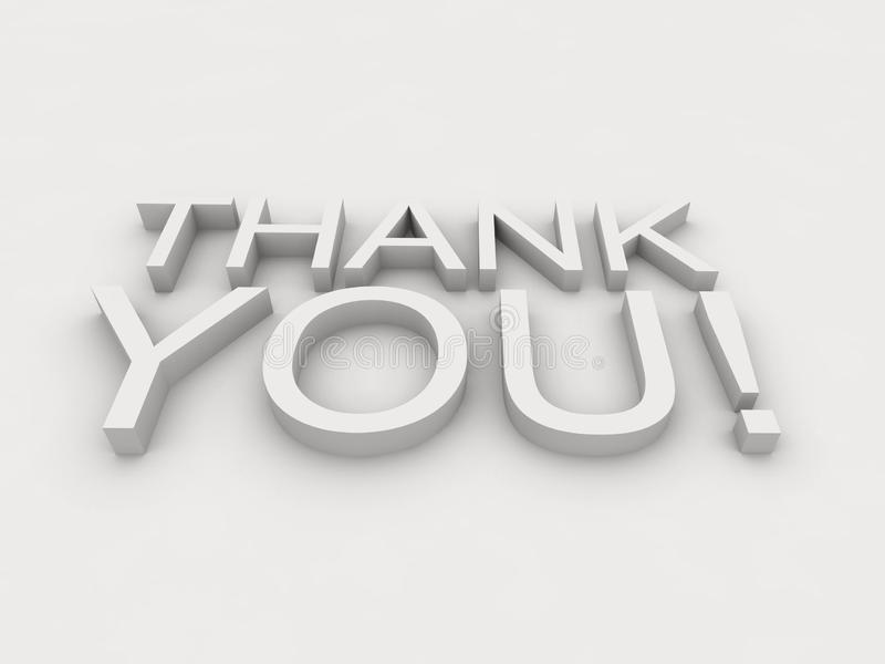 Thank you! text, words on white background royalty free illustration