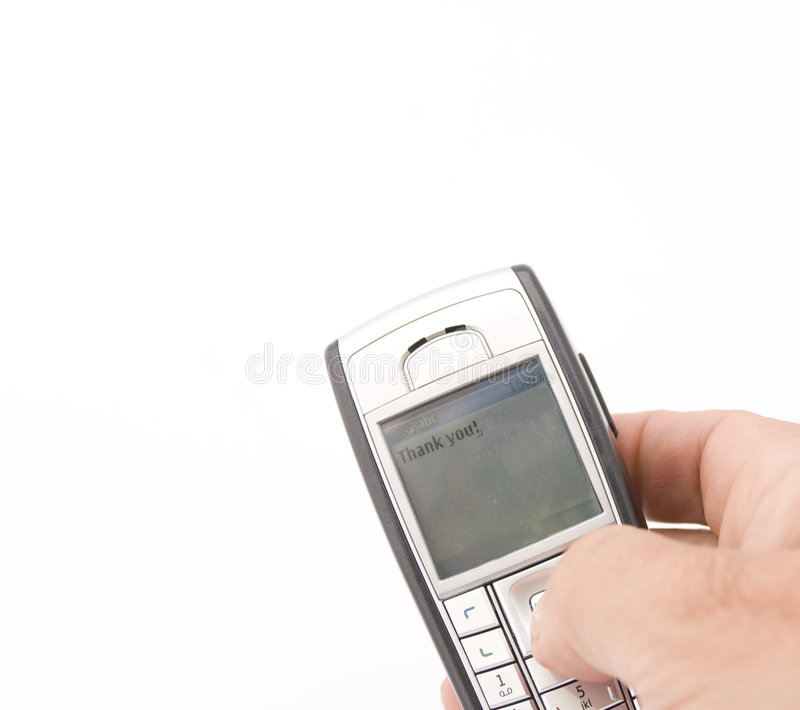 Thank you texting stock photography