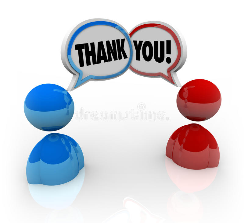 Download Thank You - Two People Voicing Appreciation Stock Illustration - Image: 19570441