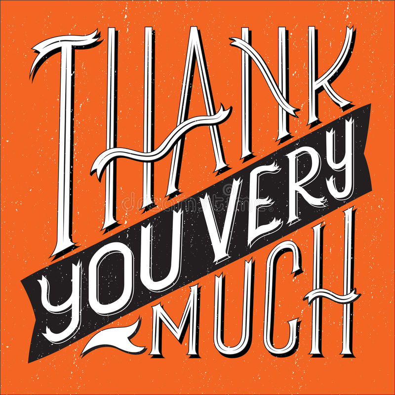 Thank You Type Square vector illustration