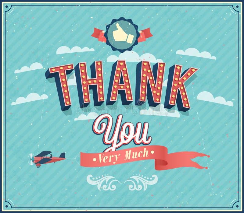 Thank you typographic design. Vector illustration royalty free illustration