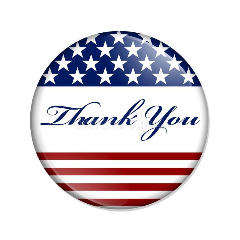 Thank You USA Button vector illustration
