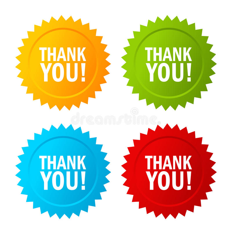 Download Thank you vector icon stock vector. Image of badge, medal - 83720325
