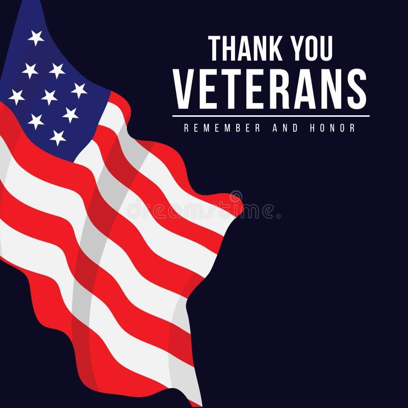 Thank you Veterans Vector Template Design Illustration stock illustration
