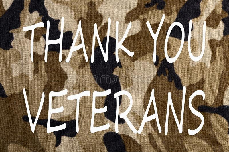 Thank You Veterans Concept stock images