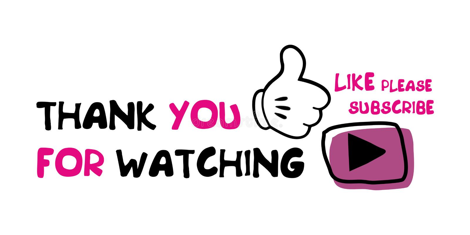 thank you for watching please like and subscribe stock vector illustration of please bloggers 170905910 thank you for watching please like and