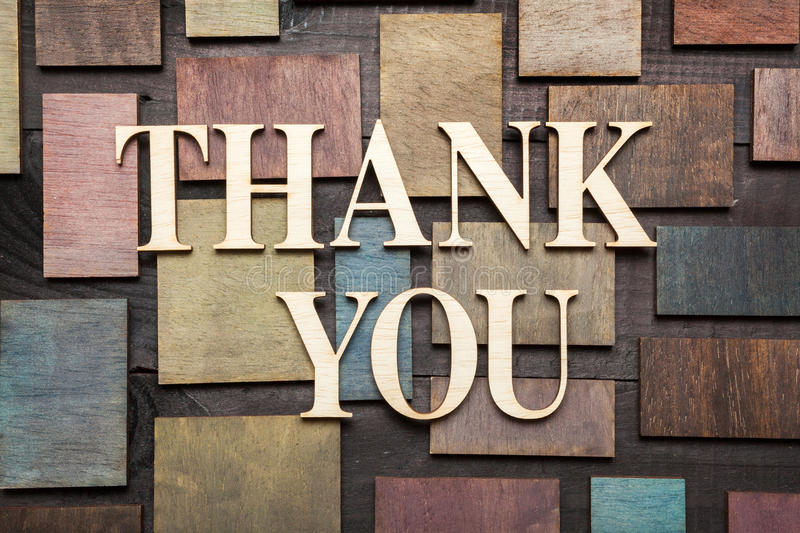 Download Thank you stock image. Image of wood, words, textured - 39380279