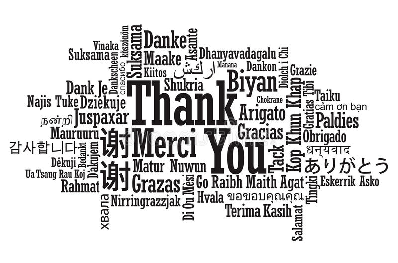 Download Thank You Word Cloud stock vector. Image of indonesian - 36660456