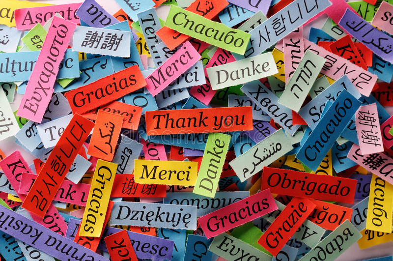 Download Thank You stock photo. Image of merci, collage, french - 40787554