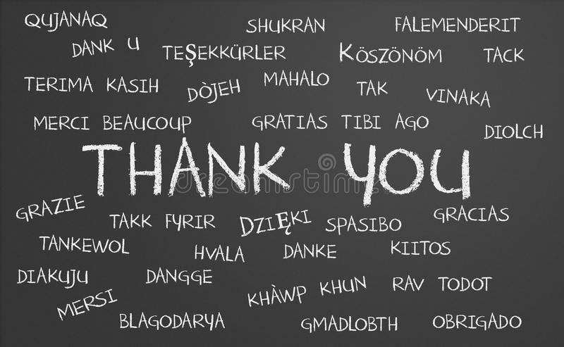 Thank you word cloud royalty free illustration