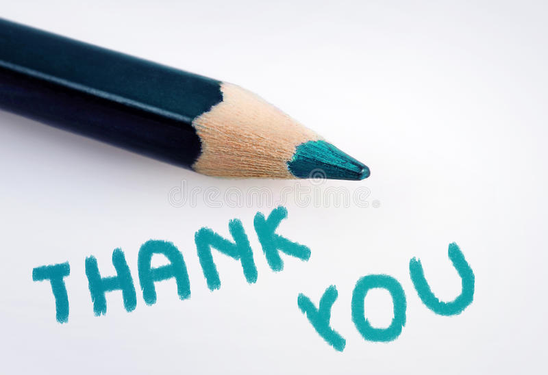 Thank you word royalty free stock photo