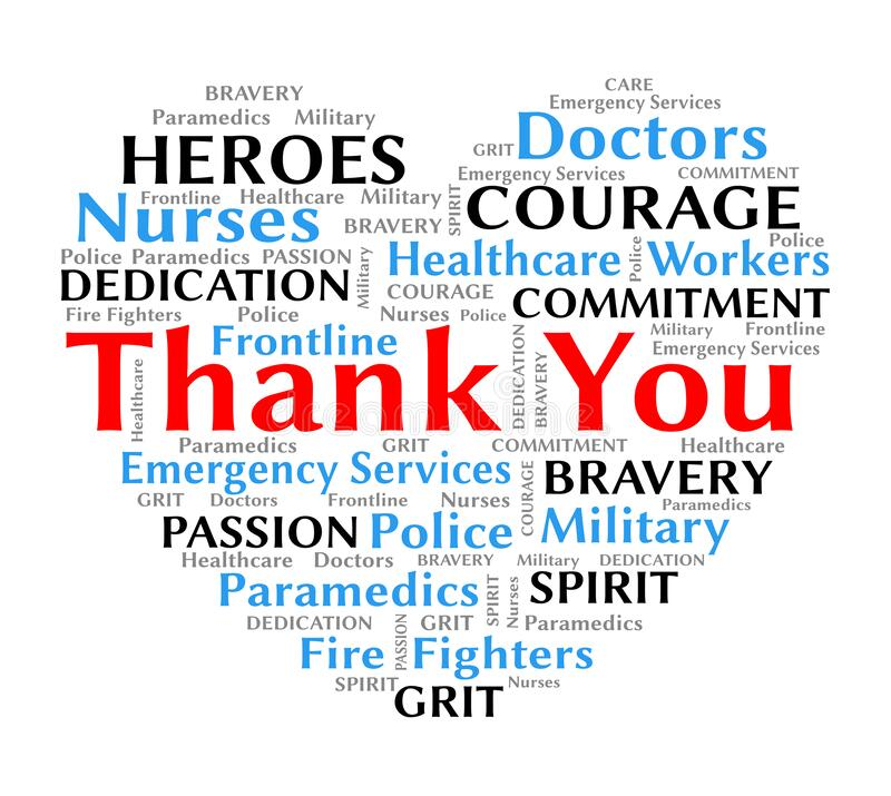 Free Thank You Wordcloud Heart For Coronavirus Covid-19 Nurses And Healthcare Stock Photography - 178256982