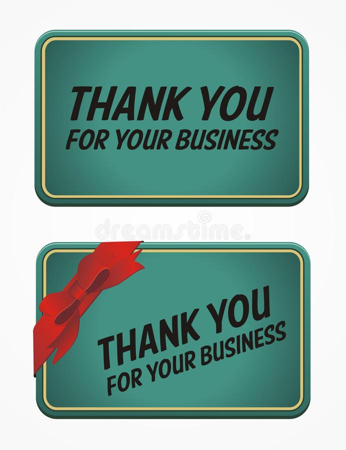 Thank You For Your Business Card Stock Illustration - Illustration ...