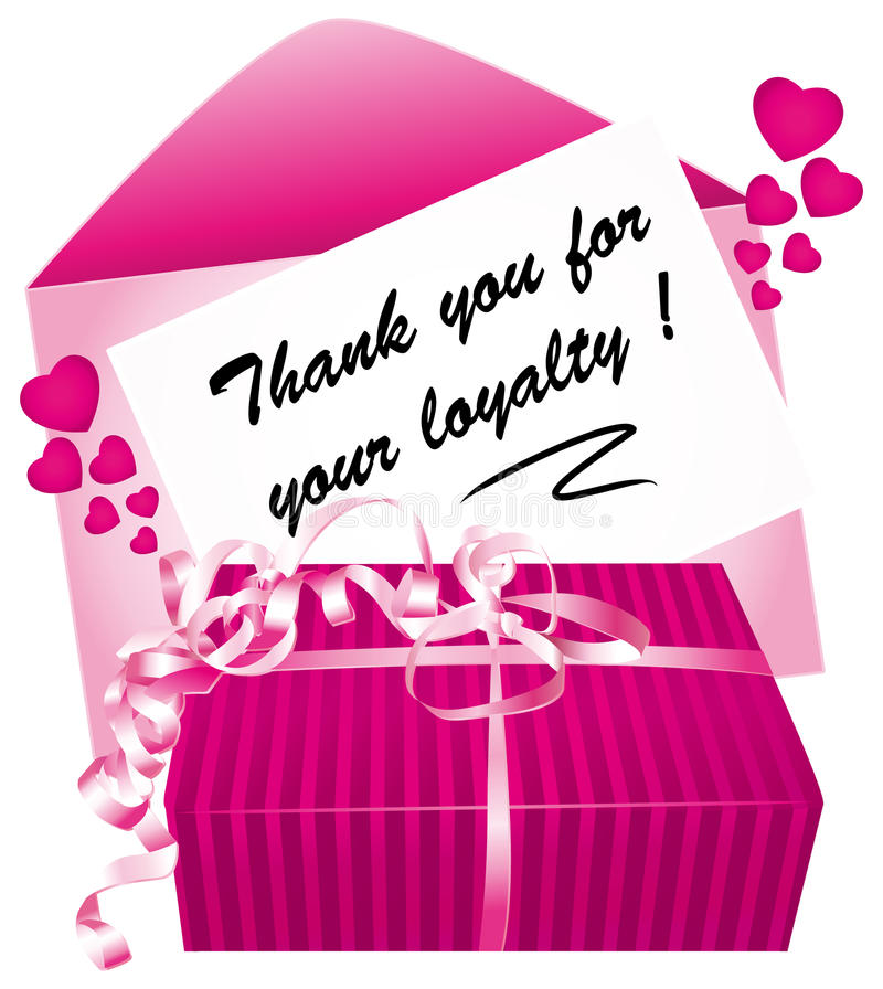 Thank you for your loyalty. vector illustration