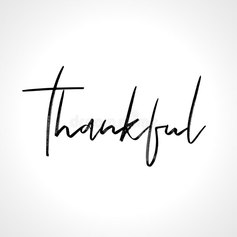 Thankful - lettering message. royalty free illustration