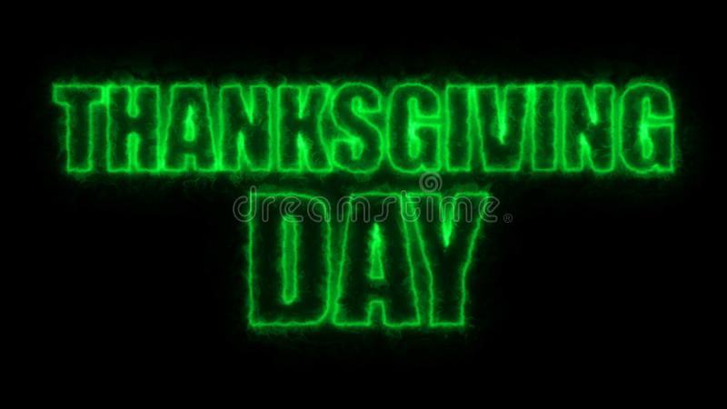 Thanks giving day text, 3d rendering backdrop, computer generating, can be used for holidays festive design. Thanks giving day text, 3d rendering background stock illustration