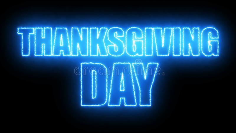Thanks giving day text, 3d rendering backdrop, computer generating, can be used for holidays festive design. Thanks giving day text, 3d rendering background royalty free illustration