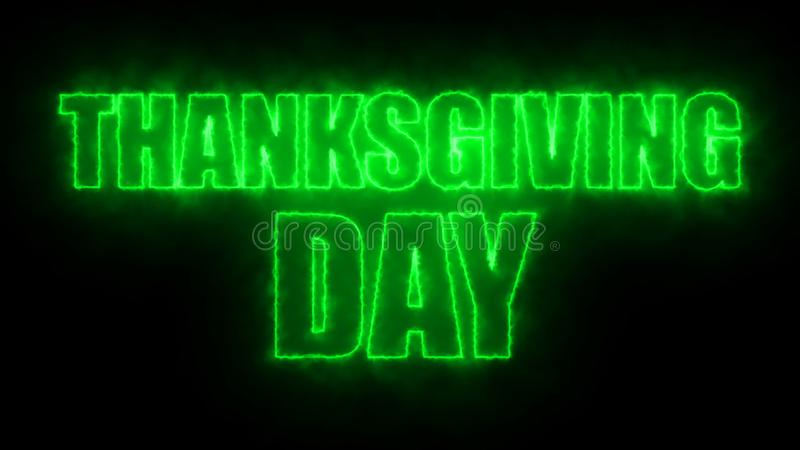 Thanks giving day text, 3d rendering backdrop, computer generating, can be used for holidays festive design. Thanks giving day text, 3d rendering background vector illustration
