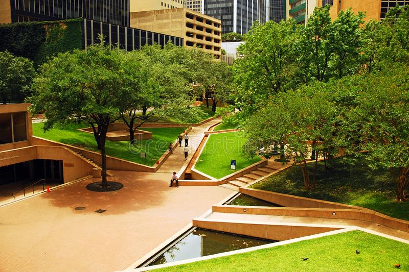 Thanks Giving Square, a peaceful oasis in downtown Dallas, Texas. Thanks Giving Square, is a peaceful oasis in middle of downtown Dallas, Texas royalty free stock photos