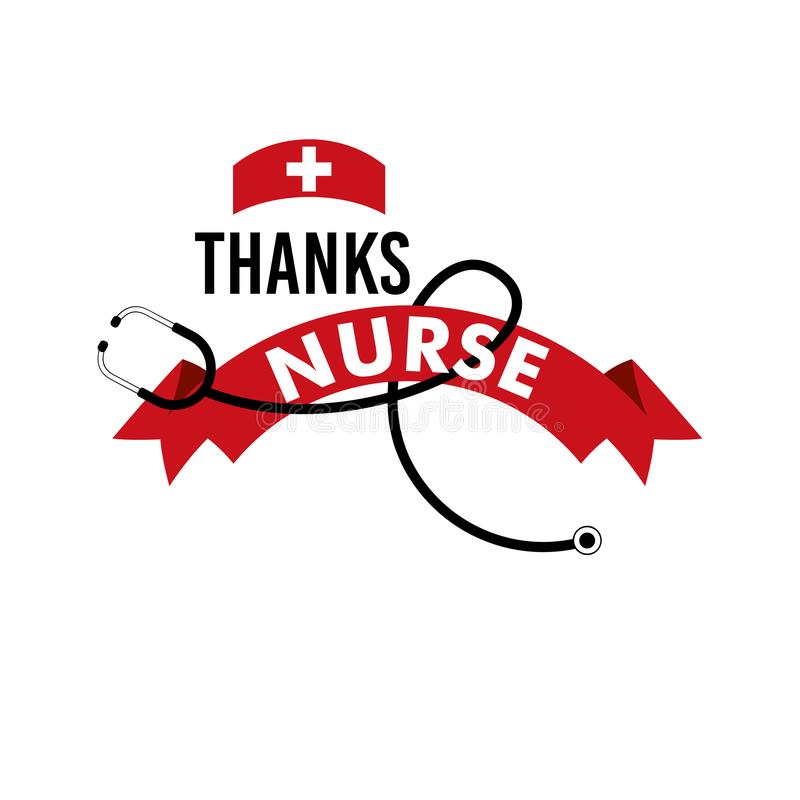 Thanks Nurse Vector Template Design Illustration vector illustration
