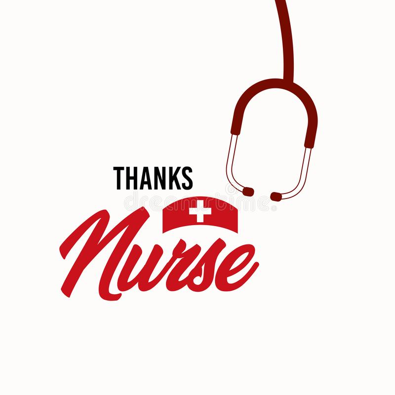 Thanks Nurse Vector Template Design Illustration royalty free illustration