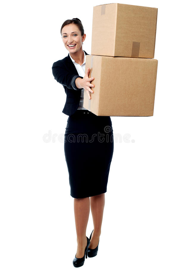 Thanks for the safe delivery. royalty free stock photo