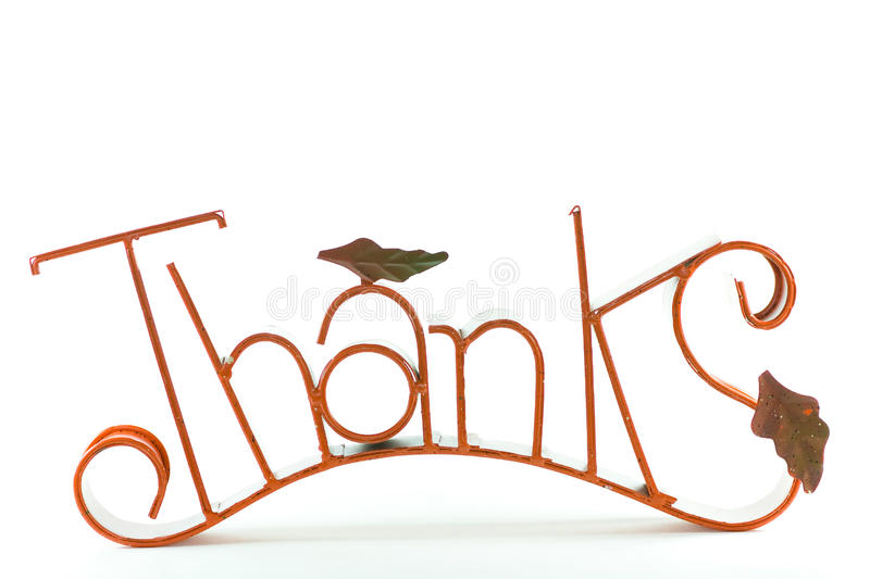 Thanks sign. stock image