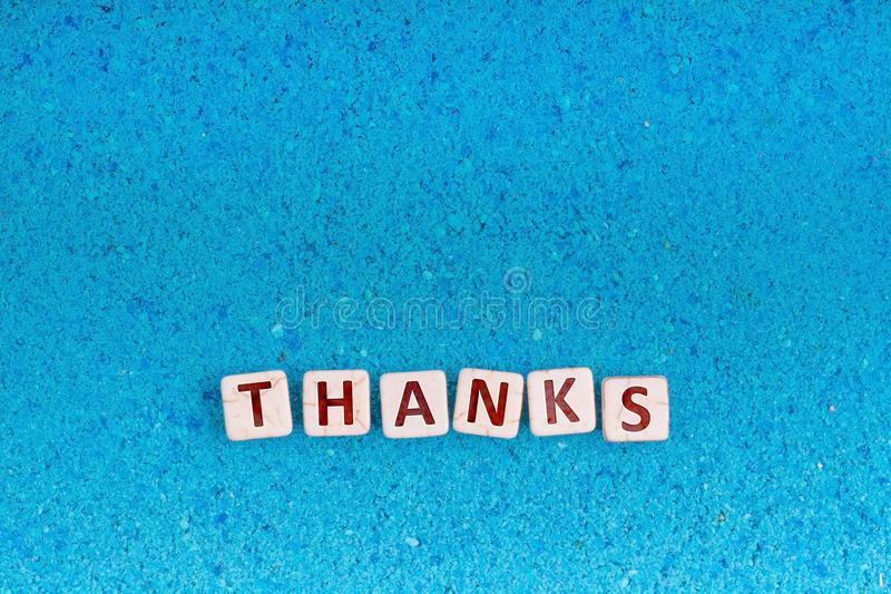 Thanks word on stone royalty free stock images