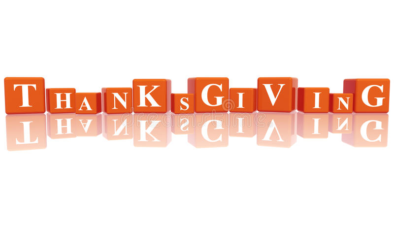 Download Thanksgiving in 3d cubes stock illustration. Image of event - 16384828
