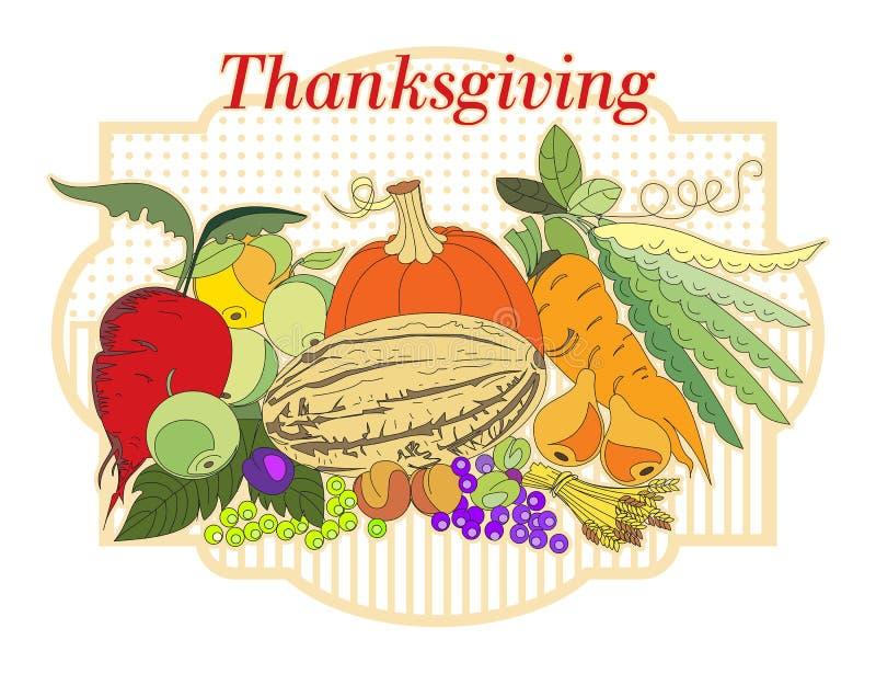 thanksgiving ilustración del vector