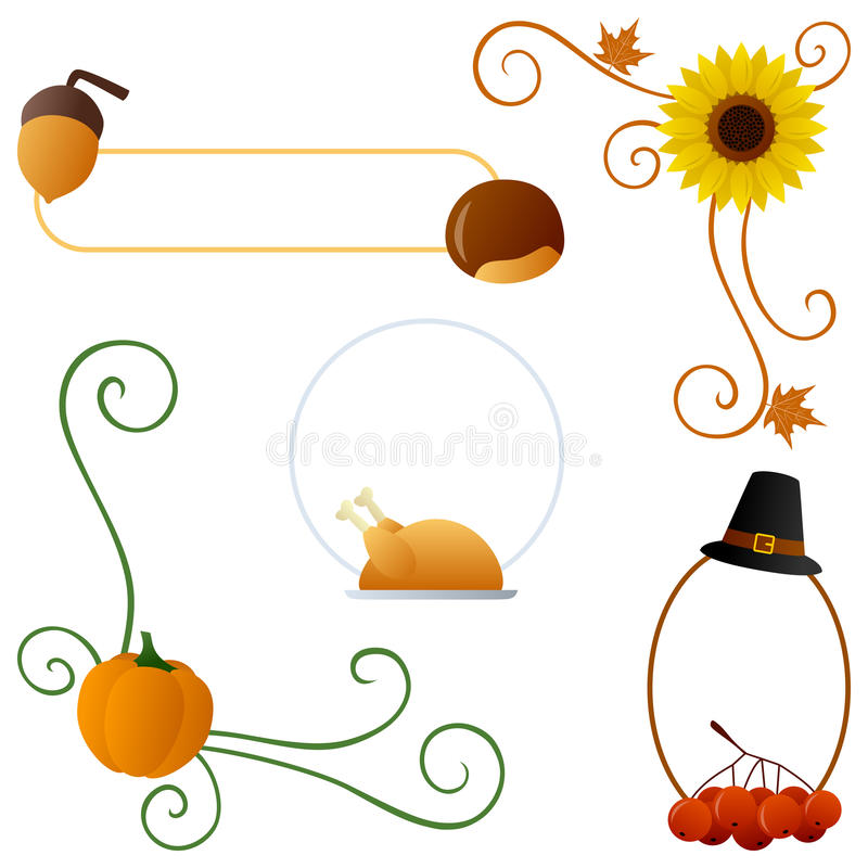 Download Thanksgiving Or Autumn Borders Royalty Free Stock Image - Image: 26751766