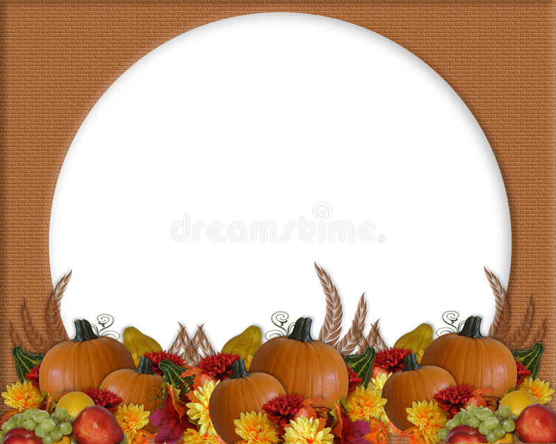Thanksgiving Autumn Fall Border stock illustration
