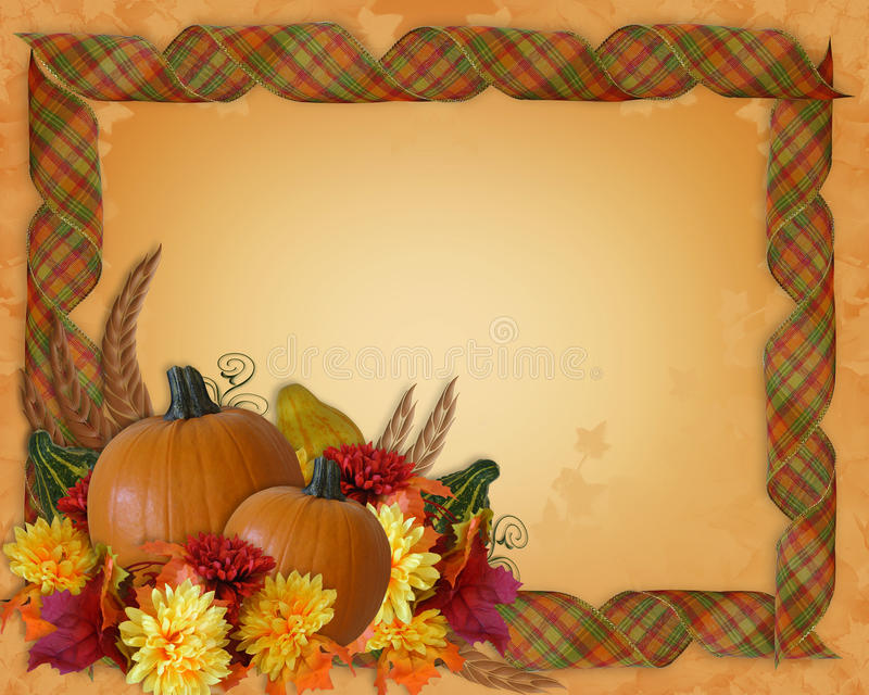 Thanksgiving Autumn Fall Border Ribbons Stock Illustration ...