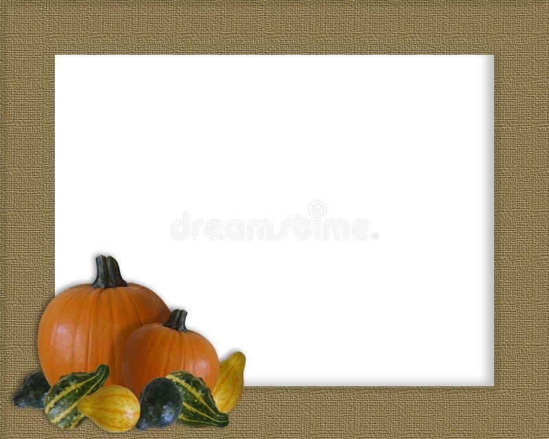 Download Thanksgiving Autumn Fall Frame Burlap Stock Illustration - Image: 6691895
