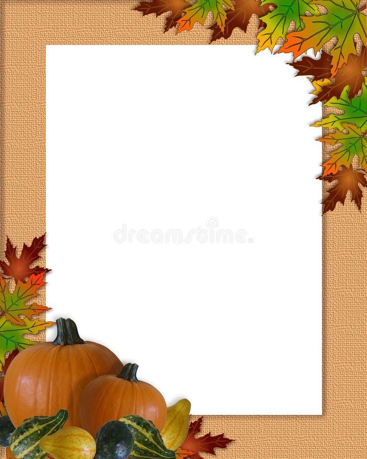 Thanksgiving Autumn Fall Frame Burlap royalty free illustration
