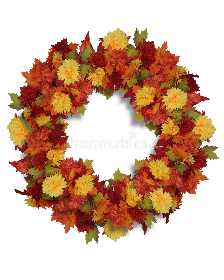 Download Thanksgiving Autumn Flowers Wreath Stock Illustration - Illustration of floral, artistic: 5726567