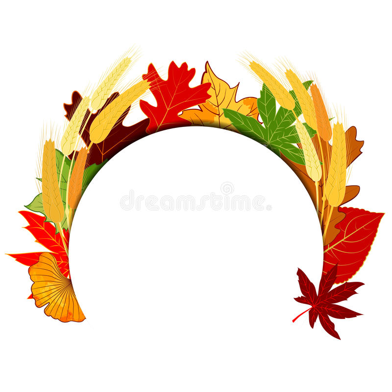 Thanksgiving Autumn Leaf coloré illustration stock