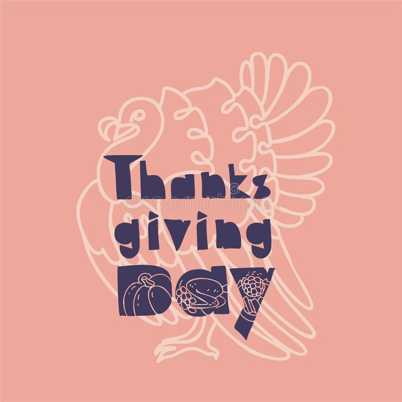Thanksgiving banner concept background, simple style vector illustration