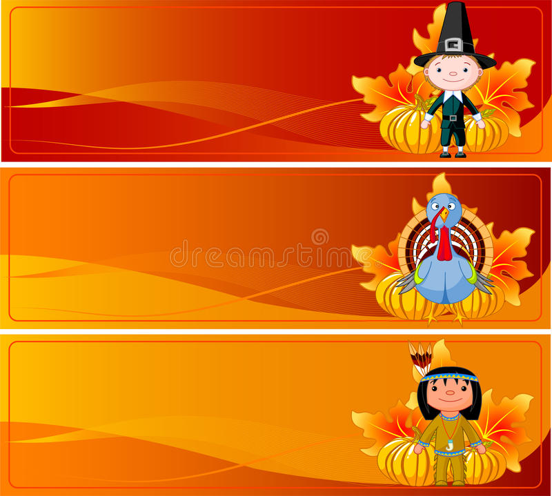 Download Thanksgiving Banners stock vector. Illustration of backgrounds - 11549150