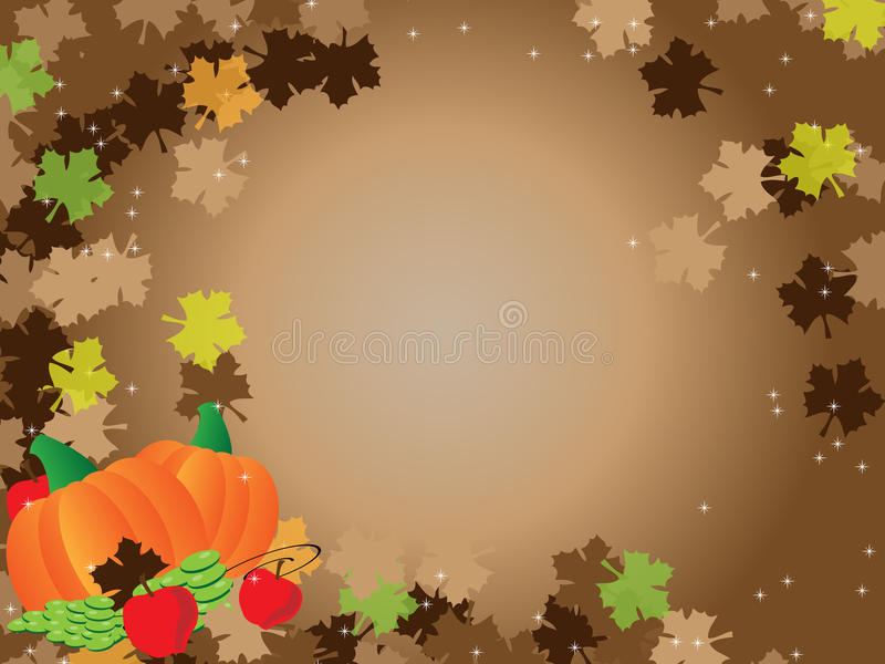 Download Thanksgiving Brown Background Frame Leafs Royalty Free Stock Image - Image: 11632606