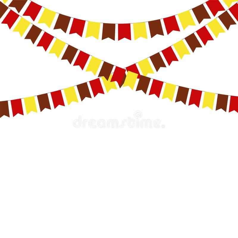 Thanksgiving bunting flags. Holiday decorations. royalty free illustration