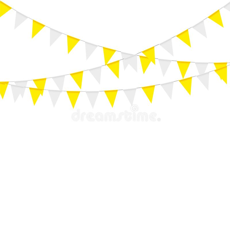 Thanksgiving bunting flags. Holiday decorations. Vector illustration stock illustration