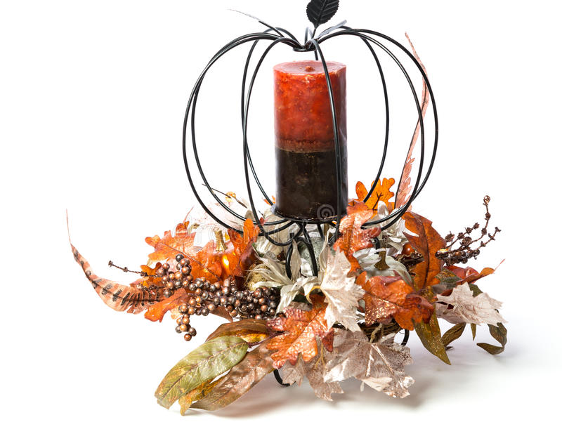 Thanksgiving Candle royalty free stock image