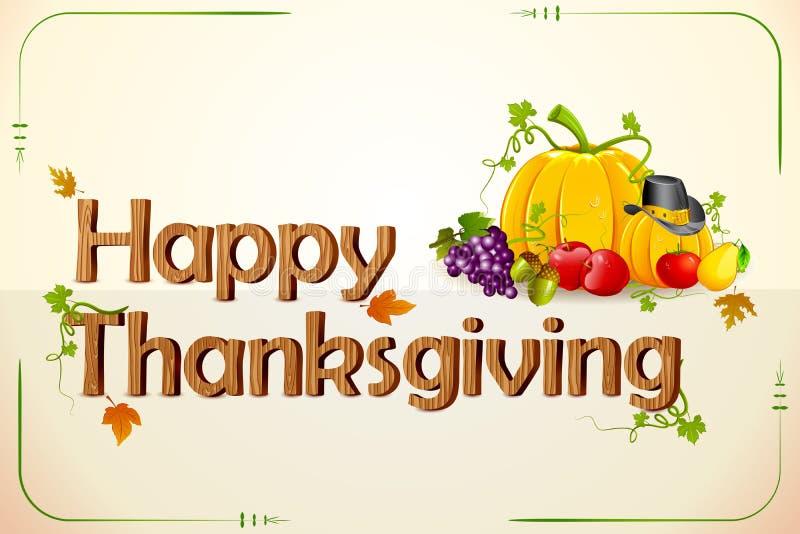 Thanksgiving Card vector illustration