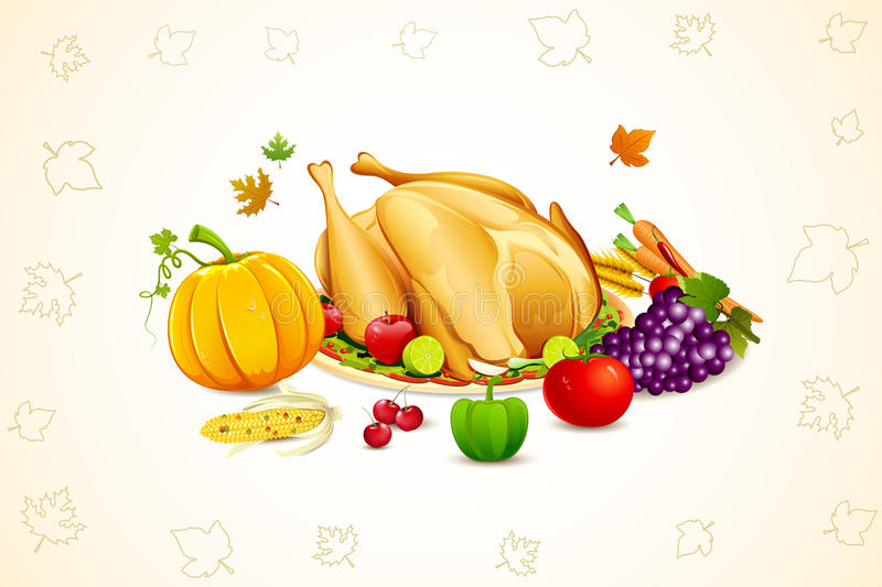 Download Thanksgiving Card stock vector. Image of autumn, invitation - 21177746