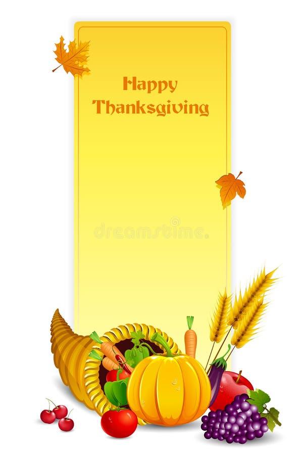 Thanksgiving Card royalty free illustration