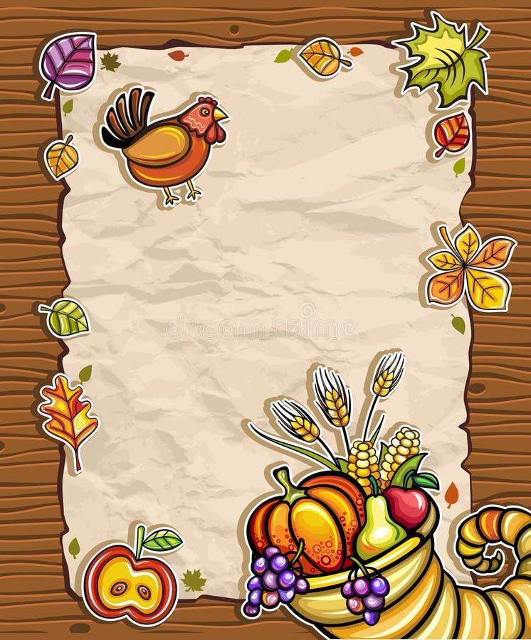 Thanksgiving card 4 stock illustration
