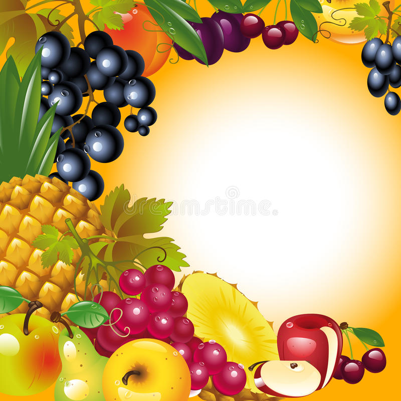 Download Thanksgiving Card. Fruit Background. Stock Vector - Illustration of floral, appreciate: 21986973